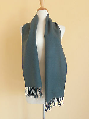 ROYAL ROSSI 100% cashmere scarf gray with fringe