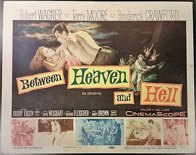Between Heaven and Hell  title lobby card  TC 1956  Robert Wagner & Terry Moore