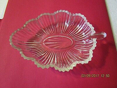 Vintage Cut Glass Candy Dish,