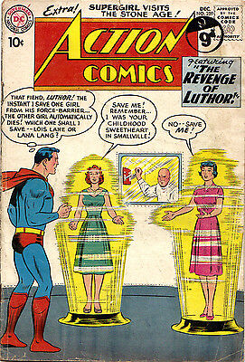 ACTION COMICS #259 (DC) Early rare Supergirl/Luthor/Red Kryptonite. Swan-c 1959!