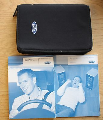 Ford Focus Pre-Facelift Handbook Owners Manual Wallet Audio Guide 2004-2008 Pack
