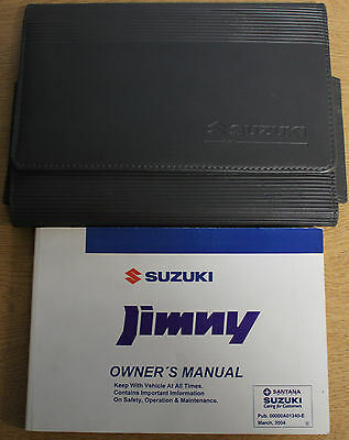 Suzuki Jimny Owners Manual Handbook Wallet 1998-2005 Pack 13384