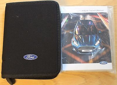 New Ford Fiesta Handbook Owners Manual  Wallet Service Book 2013-2016 Pack 12224