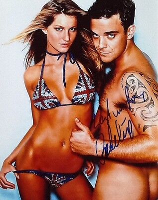 Robbie Williams - naked showing bare bum/butt! Signed Autograph 10x8 with COA