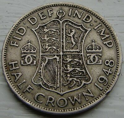1948 Half Crown GEORGE VI Coin