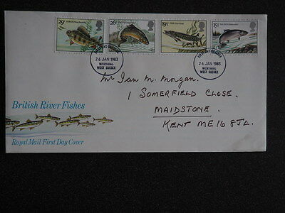 Post Office First Day Cover British River Fishes 26 jan 1983