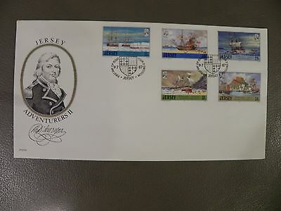 Jersey First Day Cover Jersey Adventurers II 9 July 1987