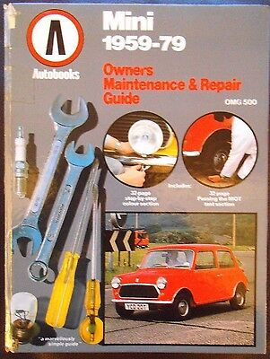 Autobooks Owners Maintenance & Repair Guide for MINI 1959 to 1979.