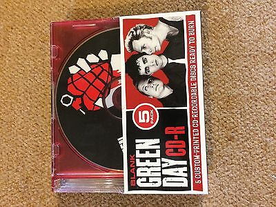 Green Day Blank CD-R Custom Printed 5 Pack New Collectible Dookie/Nimrod/warning