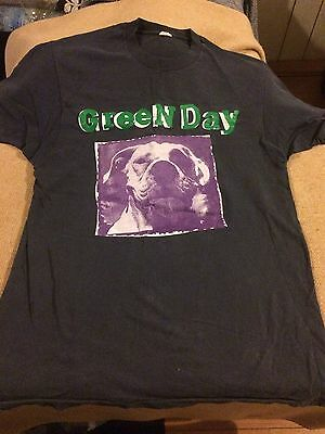 Green Day Slappy EP Tshirt Front And Rear Detail Rare Vintage