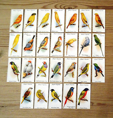 Players cigarette cards Part Set 26/50 'Aviary and Cage Birds'