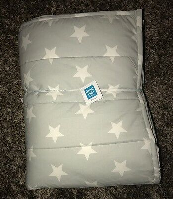 Gltc Grey Star Quilted Bed Spread Rrp £70 Great Little Trading Company