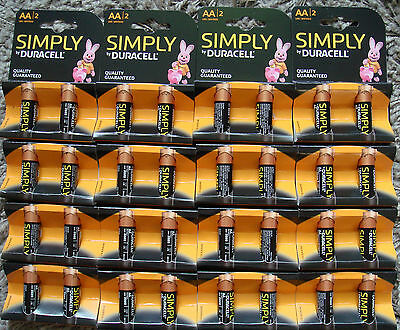 Job lot 16 Pairs of Duracell AA Batteries 32 in TOTAL expiry 2020 FREE P&P