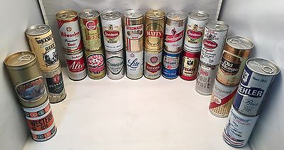 Vintage Beer Can Collection Pull Tab Punch Pop Top Steel Aluminum Straight Sided