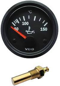 VDO Oil Temperature Temp gauge with sender, 12volt, 52mm 2 inch 40-150 Deg C