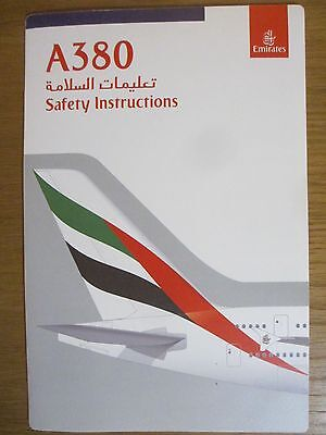 Emirates Airbus A380 airline safety card Version 2 11/15 Good