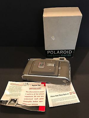 Vintage POLAROID LAND CAMERA MODEL 80A With Box
