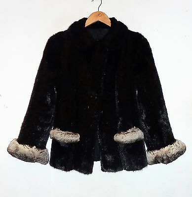 Mink Jacket With Chinchilla Trim - Fit 10/12 - Good Condition