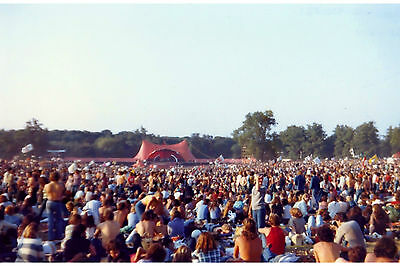 Waiting for The Rolling Stones at Knebworth Fair, 1976 - RARE 6x4 postcard