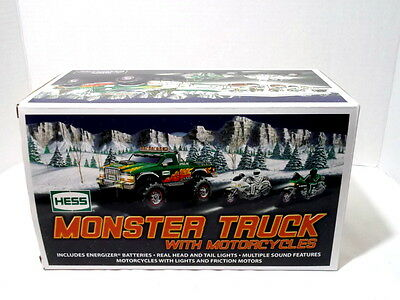 Hess 2007 Monster Truck And Motorcycles Mint Condition Original Box