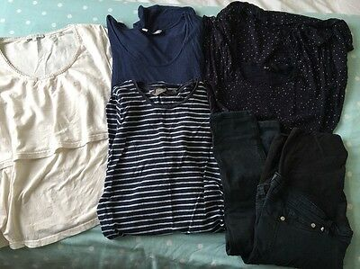 Maternity Bundle Size 8 Tops And Jeans