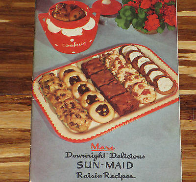 Sun Maid  Raisin Recipe Cookbook Old Art Pottery Cookie Jar Baking Advertising