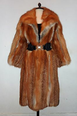 Exceptional!!! Red Fox Fur Coat - Fit 8/10/12 - Good Condition