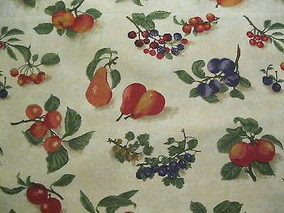 "Longaberger Window Valance 18x75"" Fruit Medley, Retired Pattern 100% Cotton"