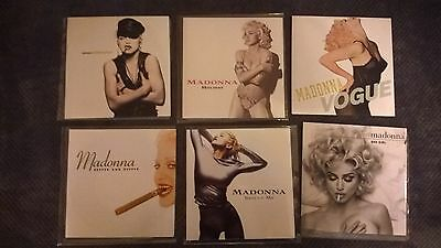 """Madonna X6 7"""" Vinyl Records. Deeper And Deeper, Rescue Me, Holiday, Vogue, Etc."""