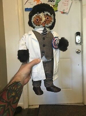 Abercrombie & Fitch vintage Doctor Dr. owl doll  RARE made in England