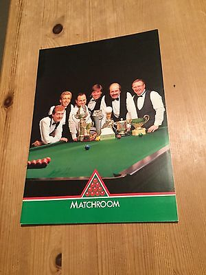 Snooker - Matchroom Official Programme - Autographed