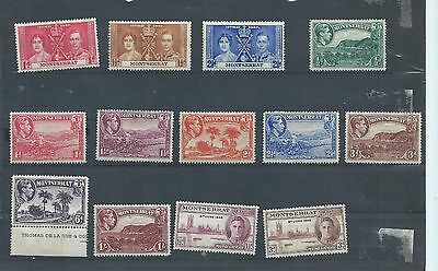 Montserrat stamps. George VI MH lot, 1937, 1946 etc.Y681)