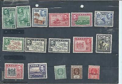 Fiji stamps. MH lot - mainly George VI 1938 series. see desc (Y642)