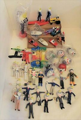 Lot Of 40 Jack In The Box Figures ~ Antennas*vehicles*etc