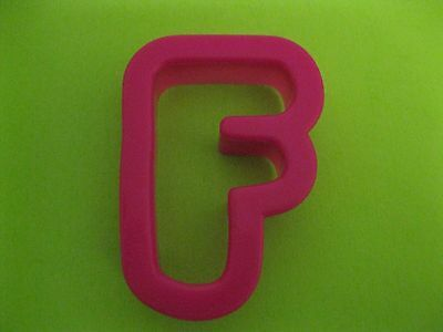 F Letter Cookie Cutter - Hot Pink - Plastic - Wilton