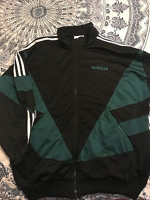 Adidas Vintage Track Top Black And Green