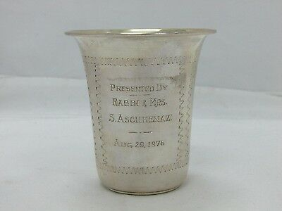 Sterling by Grand Sterling Silver Kiddush Cup With Dedication