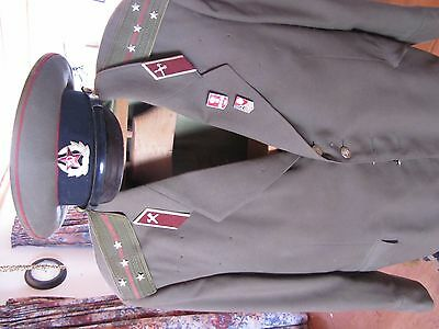 military russian  jacket / tunic and hat ww11 autentic