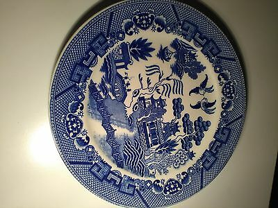 Vintage Blue and White K.G Ware  Made in JApan 23CM Dinner Plate. (1950s?)