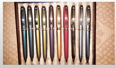 LOT OF 9 (NINE) SHEAFFER PRELUDE BALLPOINTS-(#5 NOT Incl) Various Colors & Trim