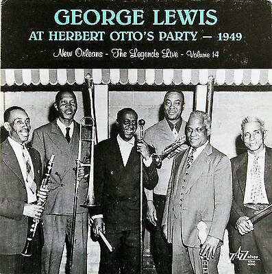 GEORGE LEWIS - NEW ORLEANS : THE LEGENDS LIVE  - TWO LPs