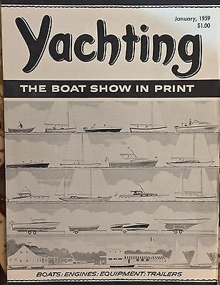 Collectible Vintage Yachting Magazine January 1959 Illustrated
