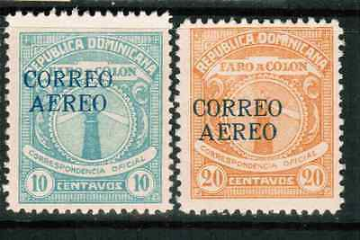 Dominican Republic Airmail Official 1930 Sc#CO1-CO2, MLH  cp4