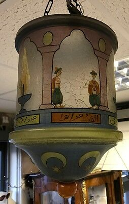 A Beautiful Arts & Crafts Decorated Glass Ceiling Light Shade. Open To Offers?