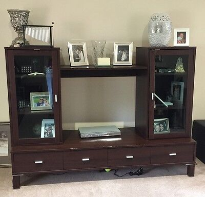 TV Entertainment Unit Stylish, Clever, Functional. Glass Doors And Drawers
