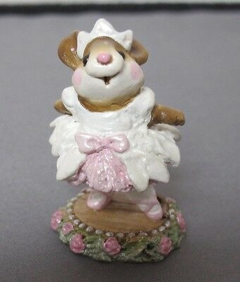 Wee Forest Folk Prima Ballerina M-162  White Dress With Pink Bow