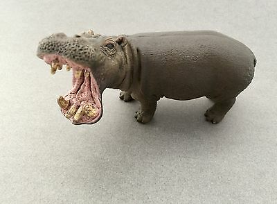 1995 Made in GermanySchleich 73527 Hippo Open Mouth Toy Wild Animal Model