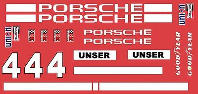 #4 Al UNSER Porsche IROC 1/64th HO Scale Slot Car Decals Custom label:  4unser