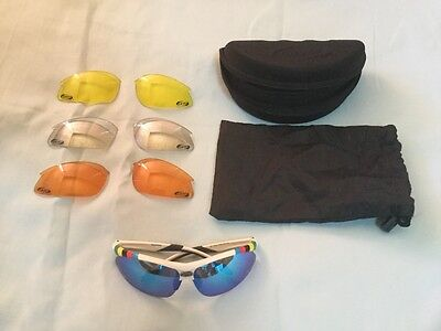 BBB Attacker Team BSG-29 Cycling Sports Glasses - White Cycling Sunglasses