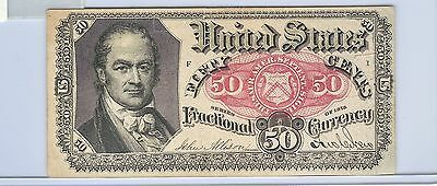 FR-1381 5th ISSUE 50 CENT FRACTIONAL CURRENCY Excellent Condition!!